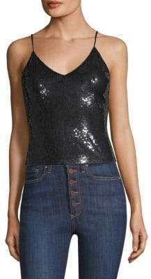 Alice + Olivia Delray Embellished Tank Top