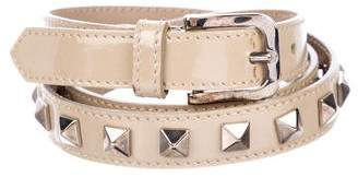 Burberry Patent Leather Studded Belt