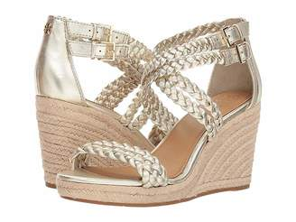 Tory Burch Bailey 2 90mm Ankle Strap Wedge Espadrille Women's Shoes