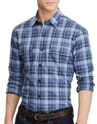 Polo Ralph Lauren Plaid Cotton Button-Down Shirt
