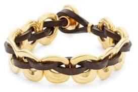 Uno de 50 Pasicn Golden Link Leather Toggle Bracelet