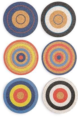 Mae Fredericks & Set of 6 Cork Coasters