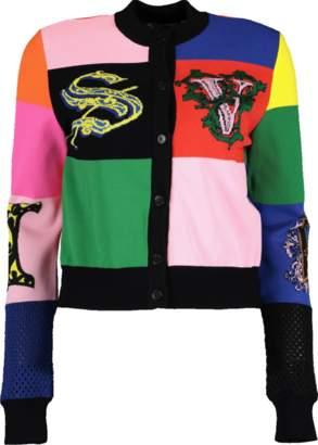 Versace Color Block Cardigan