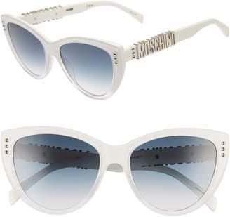 Moschino 56mm Gradient Cat Eye Sunglasses