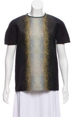 Cédric Charlier Printed Wool Blend Top