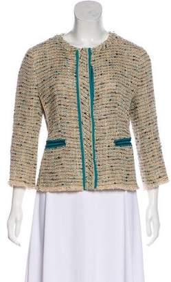 Prada Tweed Collarless Jacket