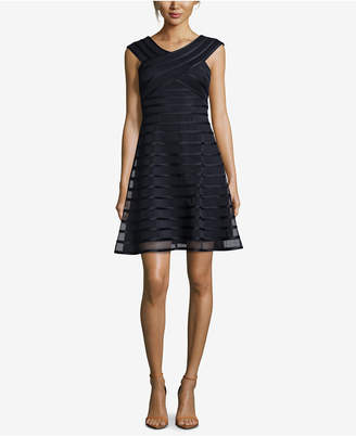Betsy & Adam Banded Fit & Flare Dress