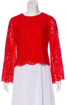 Alice + Olivia Long Sleeve Lace Blouse