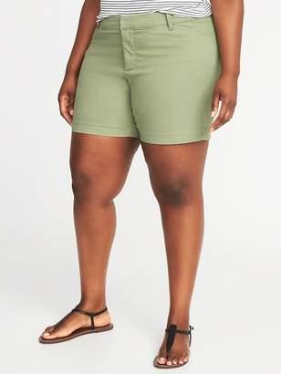 "Old Navy Mid-Rise Secret-Slim Pockets Plus-Size Pixie Chino Shorts (7"")"