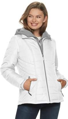 Details Women's Bib Inset Hooded Puffer Jacket