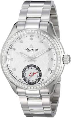 Alpina Women's AL-285STD3CD6B Horological Smart Analog Display Swiss Quartz Silver Watch