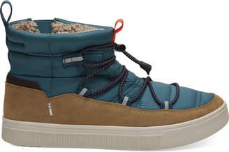 Toms Stellar Blue Quilted Suede Men's TRVL LITE Alpine Boots