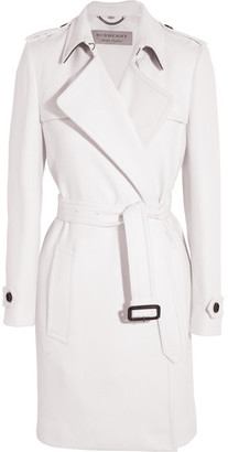 Burberry - Belted Cashmere Coat - White $2,895 thestylecure.com