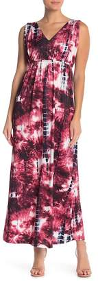 Couture Simply V-neck Printed Maxi Sundress
