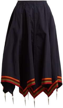 J.W.Anderson Handkerchief-hem cotton skirt