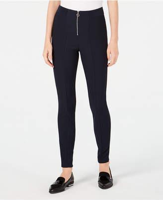 Be Bop Juniors' Ribbed Zip Ponte-Knit Pants