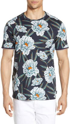 Ted Baker Crakon Slim Fit Floral T-Shirt