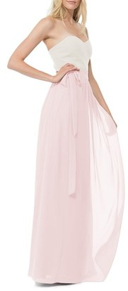 Women's Ceremony By Joanna August 'Whitney' Chiffon Wrap Maxi Skirt $175 thestylecure.com