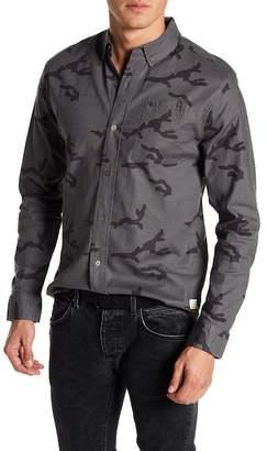 Slvdr Front Button Camo Print Woven Shirt