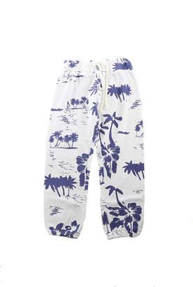 Monrow Kids White Hawaiin Vintage Sweatpants
