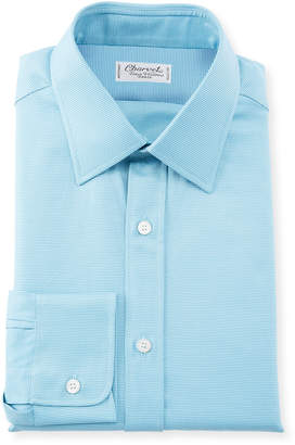 Charvet Men's Textured Poplin Dress Shirt