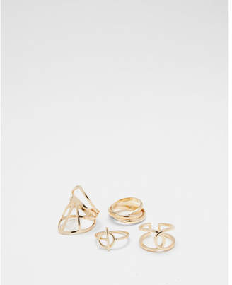 Express set of four cut-out rings