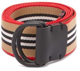 Burberry Icon Stripe Double D Ring Belt - Mens - Beige Multi