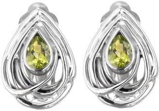Hagit Sterling 1.00 cttw Peridot Earrings
