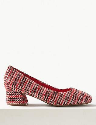 Marks and Spencer Extra Wide Fit Block Heel Court Shoes