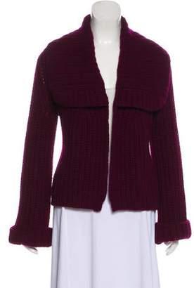 Donna Karan Wool-Blend Lightweight Knit Cardigan