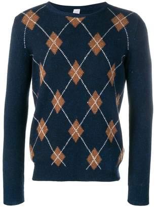 Eleventy cashmere argyle pattern jumper