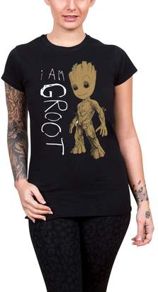 Marvel Guardians Of The Galaxy Vol 2 T Shirt I Am Groot Official Womens skinny
