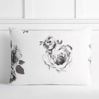 Pottery Barn Teen The Emily & Meritt Bed Of Roses Standard Sham, Black/Ivory