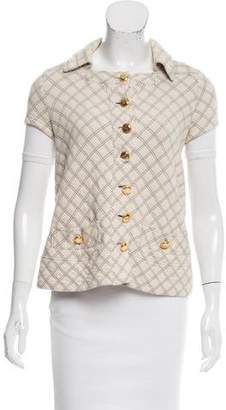 Marc by Marc Jacobs Short Sleeve Diamond Plaid Vest