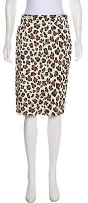 Michael Kors Animal Print Knee-Length Skirt