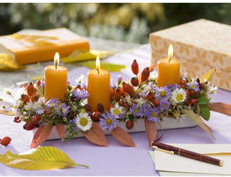 Northlight 'Floral and Berries Candle Centerpiece' Photographic Print on Canvas