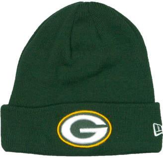 New Era Green Bay Packers Basic Cuff Knit Hat a6ec6b245