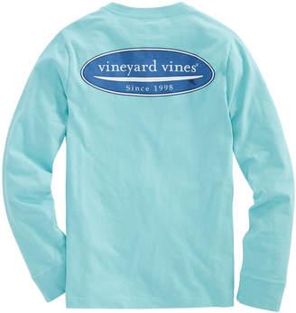 Vineyard Vines Boys Long-Sleeve Surf Logo Pocket T-Shirt
