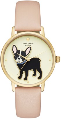 Kate Spade Grand Metro Antoine Leather Strap Watch, 38mm
