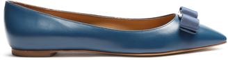 SALVATORE FERRAGAMO Emy point-toe leather flats $410 thestylecure.com