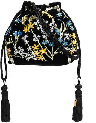 Etro floral embroidered tote bag