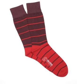 Corgi Fine Red Multi Stripe Socks in Red