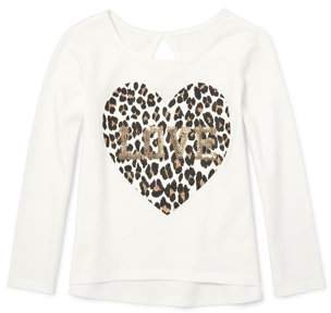 Children's Place The Long Sleeve Back Keyhole T-Shirt (Toddler Girls)