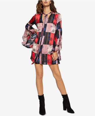 BCBGeneration Printed Tie-Neck Dress
