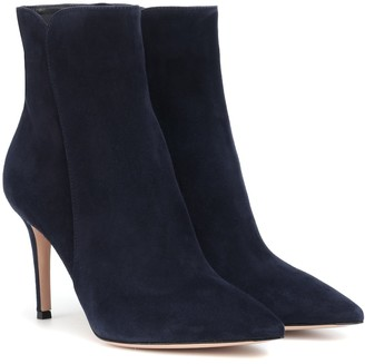Gianvito Rossi Levy 85 suede ankle boots