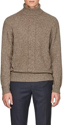 Luciano Barbera Men's Cable-Knit Turtleneck Sweater