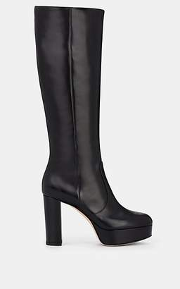 Gianvito Rossi Women's Dominique Leather Platform Knee Boots - Black