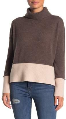 Lynk Knyt & Turtleneck Colorblock Cashmere Sweater