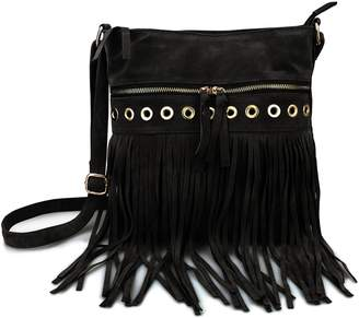 7839d2cbca3 at Amazon Canada · Hoxis Studded Tassel Zipper Pocket Faux Suede Leather  Cross Body Bag Womens Purse