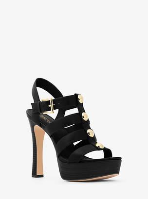 Michael Kors Inez Leather Platform Sandal